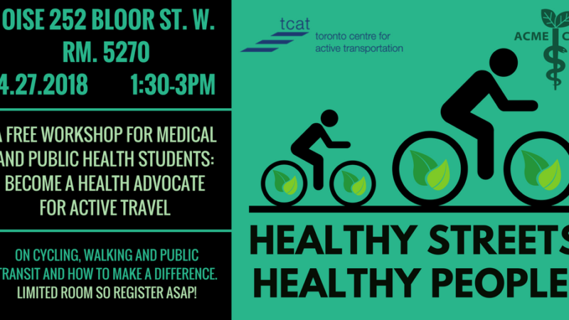 Active Travel Workshop for healthcare students